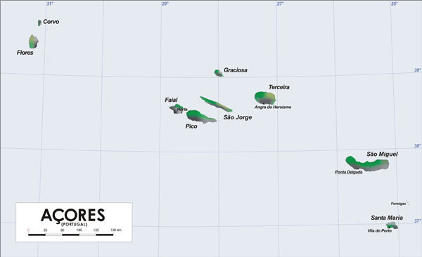 map azores